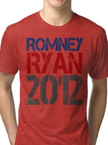 Romney Ryan 2012, Bold Grunge Design Tri-blend T-Shirt