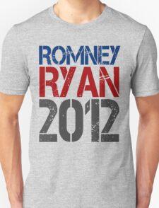 Romney Ryan 2012, Bold Grunge Design Unisex T-Shirt