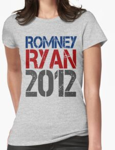 Romney Ryan 2012, Bold Grunge Design Womens Fitted T-Shirt