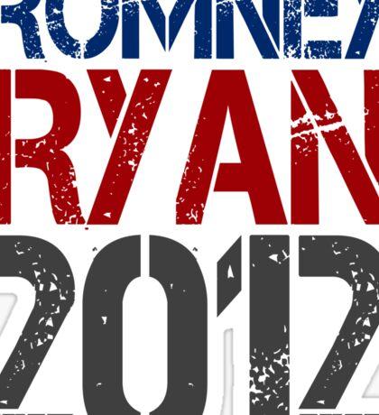 Romney Ryan 2012, Bold Grunge Design Sticker