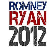 Romney Ryan 2012, Bold Grunge Design Photographic Print