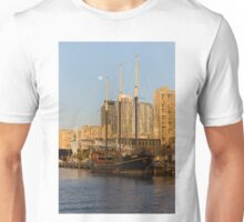 Tall Ship and Full Moon at Toronto Harbourfront Unisex T-Shirt
