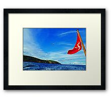 Flying Behind Framed Print