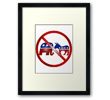 No Politics iPhone / Samsung Galaxy Case Framed Print