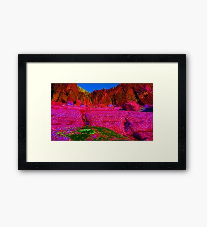 Psychadelic Rock - The Pink Plateau.. Framed Print