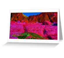Psychadelic Rock - The Pink Plateau.. Greeting Card