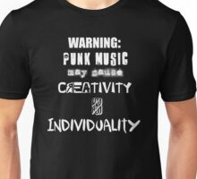 Punk Causes Creativity - White Unisex T-Shirt