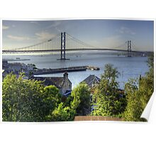 Forth Road Bridge and Harbour Poster