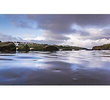 High Tide at Porth Beach Photographic Print