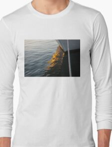 Reflecting on Boats and Sunsets Long Sleeve T-Shirt