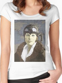 Amelia Earhart Women's Fitted Scoop T-Shirt
