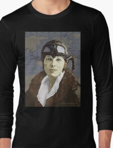 Amelia Earhart Long Sleeve T-Shirt