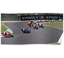 Start of the Mugello MotoGP Race 2011 Poster
