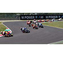 Start of the Mugello MotoGP Race 2011 Photographic Print