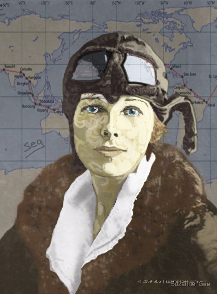 Amelia Earhart by Suzanne  Gee