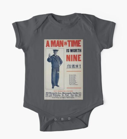 A man in time is worth nine 0001 One Piece - Short Sleeve