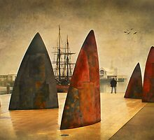 Admiring the view - Geelong by Hans Kawitzki
