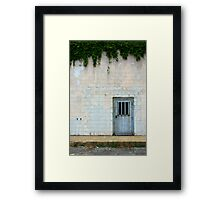 Metal Door with Vines Framed Print