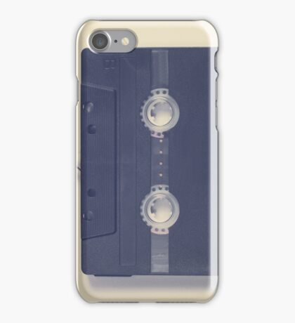 Music retro black cassette and tape heart shaped iPhone Case/Skin