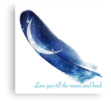 Until the moon and back Canvas Print