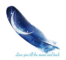 Moon feather Photographic Print