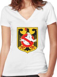 GB: Deutschland Women's Fitted V-Neck T-Shirt