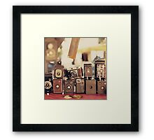 Old Cameras (Vintage and Retro Film Cameras Collection) Framed Print