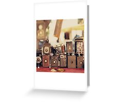 Old Cameras (Vintage and Retro Film Cameras Collection) Greeting Card