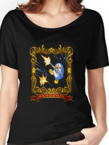 parodius penguin with a machine gun Women's Relaxed Fit T-Shirt