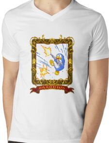 parodius penguin with a machine gun Mens V-Neck T-Shirt