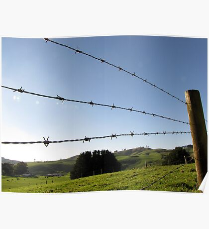 Blue Wire Poster