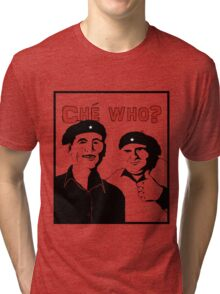 "Personalised ""Che who?"" t-shirt Tri-blend T-Shirt"
