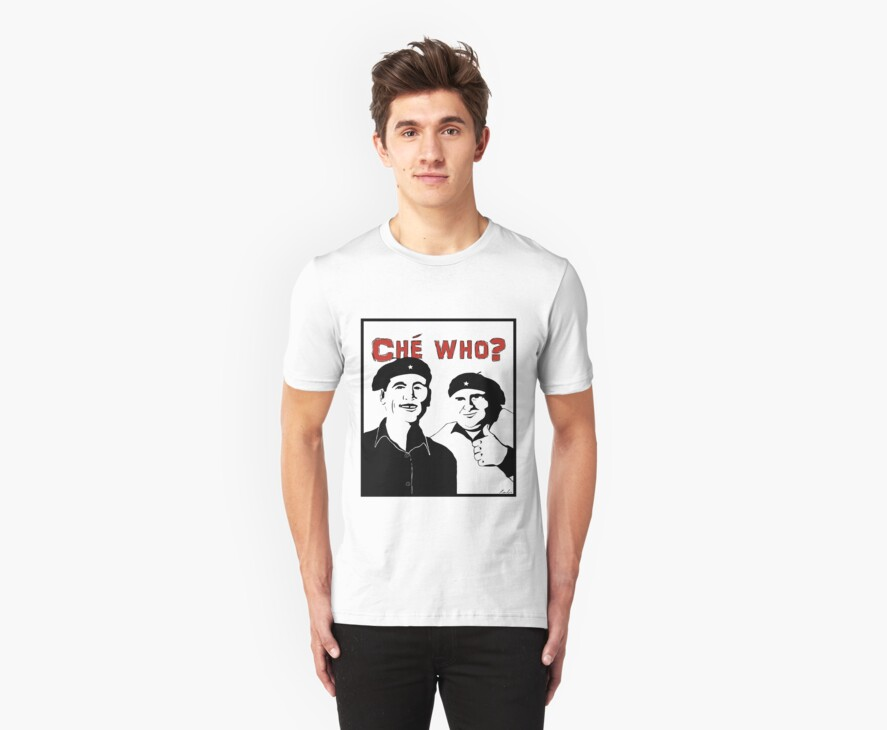 "Personalised ""Che who?"" t-shirt by redbo"