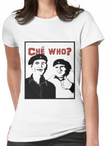 "Personalised ""Che who?"" t-shirt Womens Fitted T-Shirt"