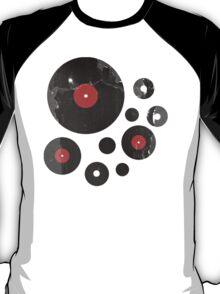 Vintage Vinyl Records Music DJ Retro Grunge T-Shirt! T-Shirt