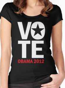 Vote Obama Shirt Women's Fitted Scoop T-Shirt