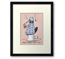 dalek toilet humour Framed Print