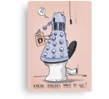dalek toilet humour Canvas Print