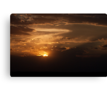Sandhills Sunset Canvas Print