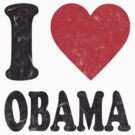 I Love Obama Retro Shirt by ObamaShirt