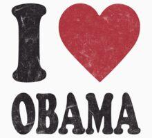 I Love Obama Retro Shirt Kids Tee