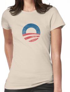 Retro Obama Logo Shirt Womens Fitted T-Shirt