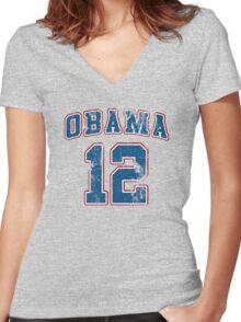 Retro Obama 2012 Shirt Women's Fitted V-Neck T-Shirt