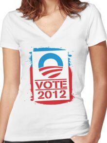 Vote Obama 2012 T Shirt Women's Fitted V-Neck T-Shirt