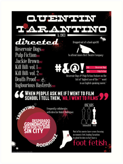 Quentin Tarantino infographic by genadele