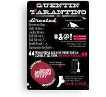 Quentin Tarantino infographic Canvas Print