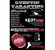 Quentin Tarantino infographic Photographic Print