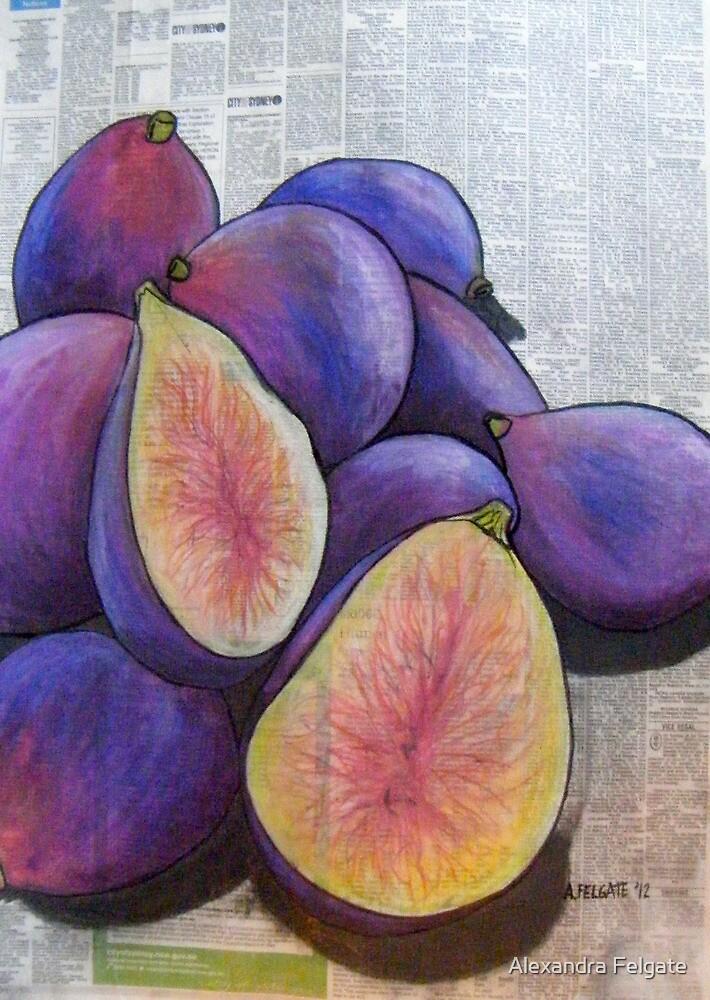 Figs on Newspaper  by Alexandra Felgate