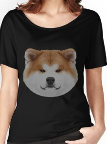 Knit Japanese Akita Face Women's Relaxed Fit T-Shirt