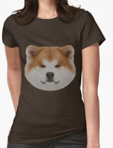 Knit Japanese Akita Face Womens Fitted T-Shirt